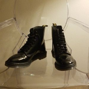 Dr. Martens patent leather boots, size 9